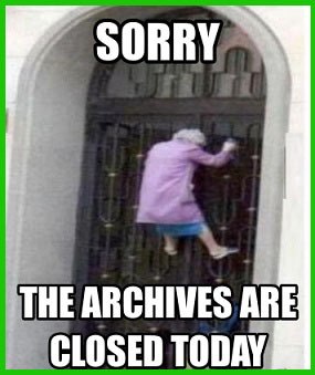 archives-are-closed-today