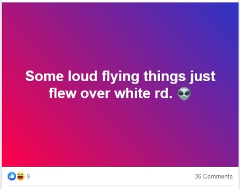 loud flying things