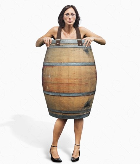 Woman-Wearing-Only-A-Barrel