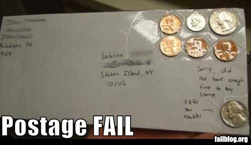 fail-owned-coin-stamp-letter-postage-fail
